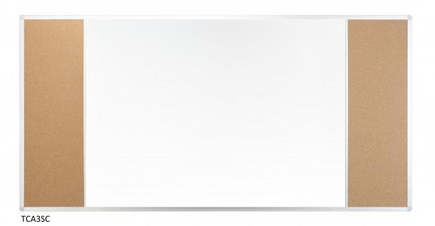 Доска Комби 2x3 лакированная магнитно-маркерная + пробковая поверхность 150 x 100 см