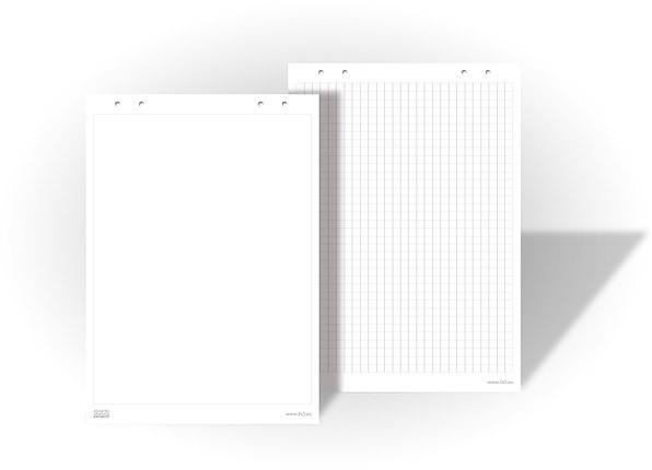 Бумага для флипчартов 2х3 20 листов 99 х 66 см чистая