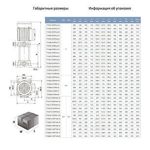Насос центробежный многоступенчатый вертикальный 380В 3.0кВт Hmax 78м Qmax 170л/мин LEO 3.0 (7754663), фото 2