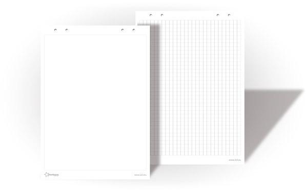 Бумага для флипчартов 2х3 StarBoard 30 листов 90 х 60 см чистая