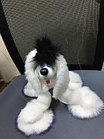 Собака марионетка. Игрушка Марионетка, на нитках, живая, на кресте, виляет хвостиком, кланяется головой,