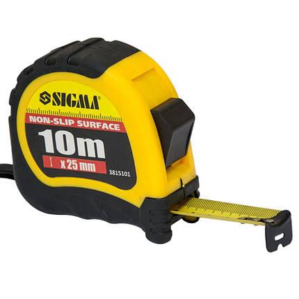 Рулетка shiftlock 10м*25мм Sigma (3815101), фото 2