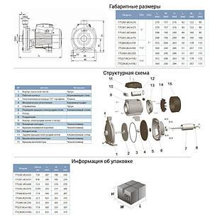 Насос центробежный 0.75кВт Hmax 35м Qmax 100л/мин LEO 3.0 (775263), фото 2
