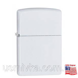 Зажигалка Zippo 214 White Matte Белая матовая 214