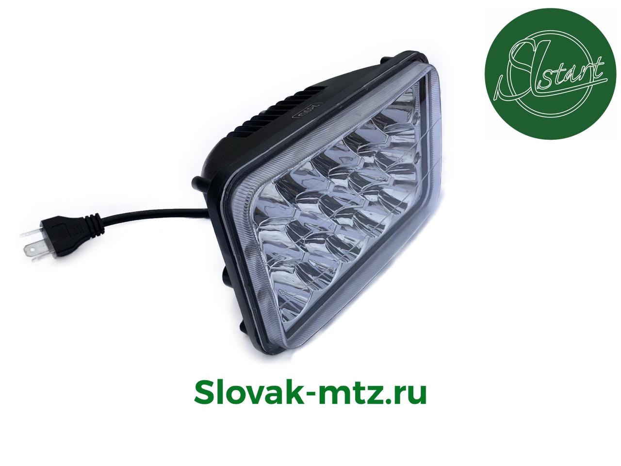 Светодиодная LED фара 45Вт прямоугольная 45W, 15 ламп, дальний и ближний луч 10/30