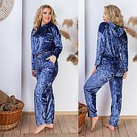 Модный женский велюровый костюм, фото 1