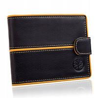 Чоловічий шкіряний гаманець Betlewski з RFID 9,8 х 12,5 х 2,5 (BPM-3DP-60) - чорний, фото 1