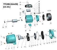Насос центробежный самовсасывающий 0.9кВт Hmax 48м Qmax 85л/мин LEO 3.0 (775386), фото 2
