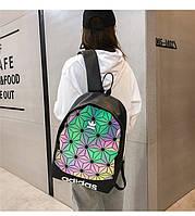 """Рюкзак городской/школьный """"ADIDAS"""" 3D Urban Mesh Triangle Flowers (хамелеон)"""