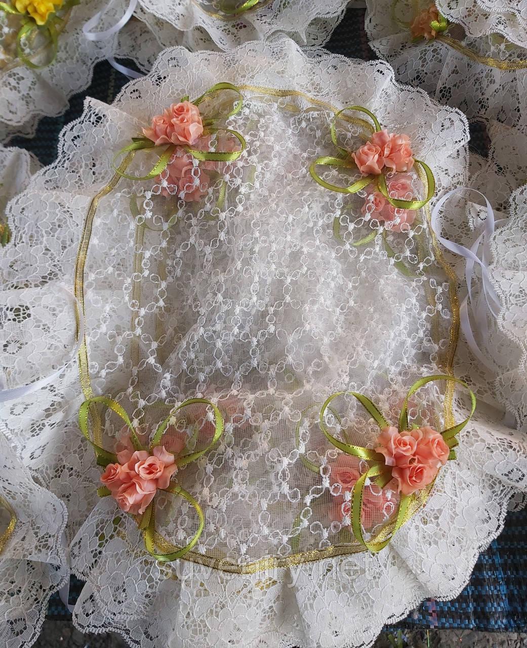 Праздничная красивая салфетка на пасхальную корзину