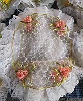 Праздничная красивая салфетка на пасхальную корзину, фото 1