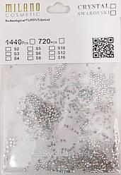 Стразы MILANO, 1440 шт (в ассортименте)