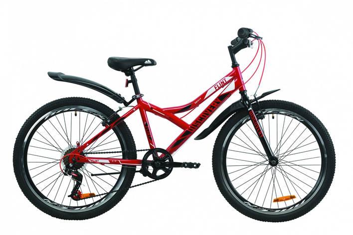 """Велосипед ST 24"""" Discovery FLINT Vbr с крылом Pl 2020 (красно-черный), фото 2"""