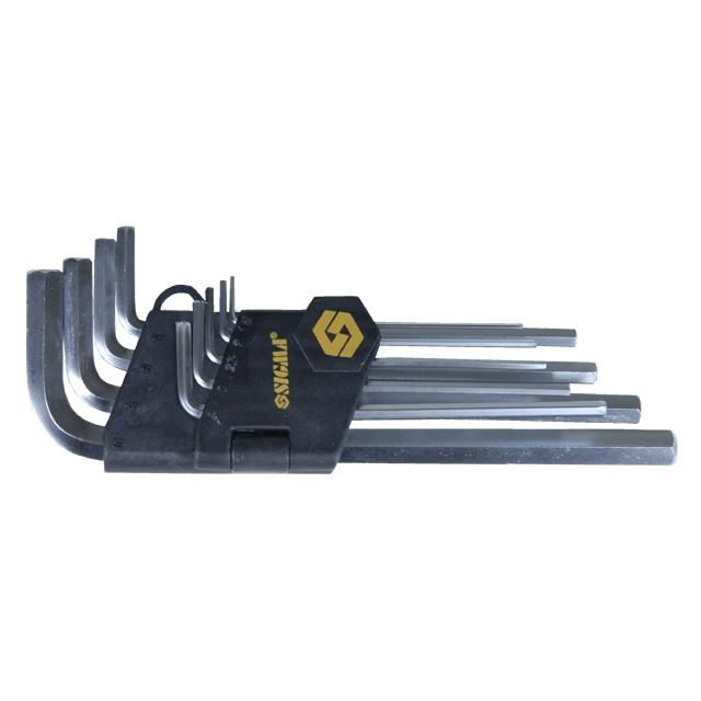 Ключи шестигранные 9шт 1.5-10мм CrV (средние) SIGMA (4022021)