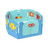 Детский манеж Same Toy Aole Океан 6+2 (ограждение) (AL-W16090201)