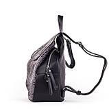 Жіночий стильний рюкзак PRIMA K8791-2 BLACK, фото 3