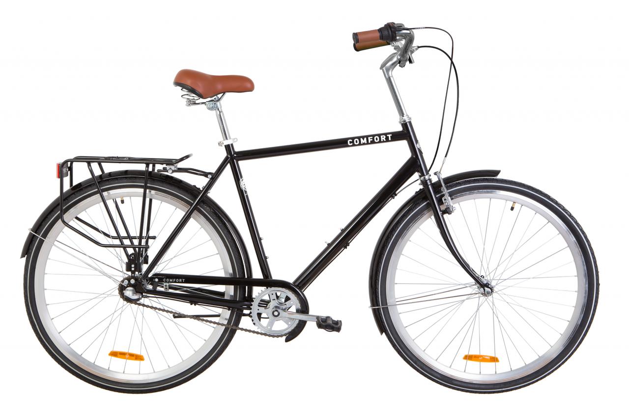 """Велосипед 28"""" Dorozhnik COMFORT MALE планет. 2020 (черный)"""
