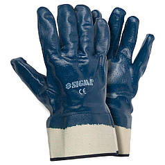 Перчатки трикотажные с полным нитриловым покрытием Sigma (9223011)