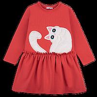 Красивое детское платье для девочки с кошкой