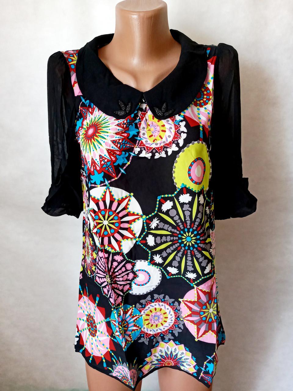Блузи туніки жіночі шифонові №8618. Розмір 42,44,46,48.Кольори різні. Від 16шт по 10грн.
