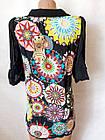 Блузи туніки жіночі шифонові №8618. Розмір 42,44,46,48.Кольори різні. Від 16шт по 10грн., фото 5