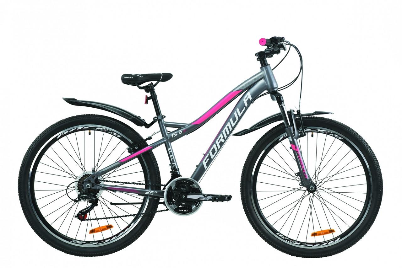 """Велосипед 26"""" Formula ELECTRA 15 2020 (антрацитово-белый с розовым (м))"""