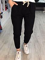 Черные котоновые штаны с манжетами