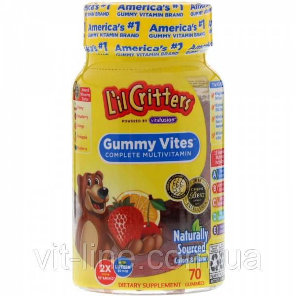 :L il Critters, Gummy Vites Complete 70 мультивитаминны жувальні мишкт