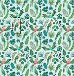 """Клапоть тканини """"Летять папуги і листя пальм"""" (2415а), розмір 33*80 див., фото 7"""