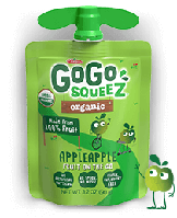 GoGo SqueeZ, Органическое яблочное пюре, 1 пакетика 3,2 унц. (90 г)