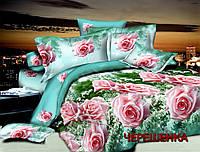 """Двуспальный набор постельного белья 180*220 из Бязи """"Gold"""" №152812AB Черешенка™"""