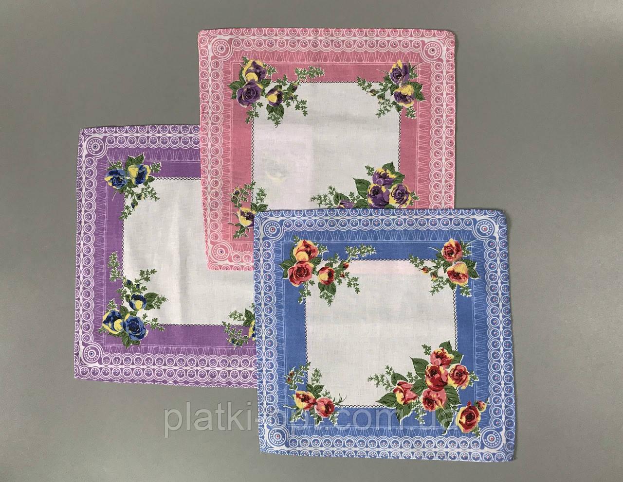 Женский носовой платок (батист)