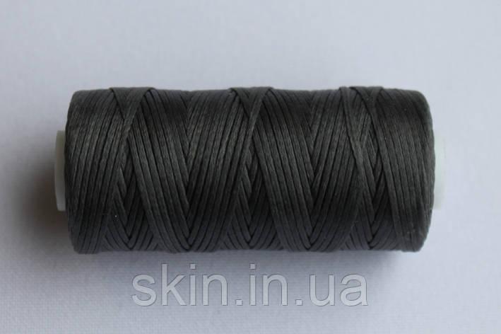 Нитка вощёная, плоская, серого цвета, толщина - 0.8 мм, 50 метров, артикул СК 5618, фото 2