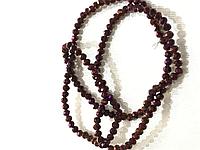 Бусины на нитке Стекло рондель d=4мм цвет сиреневый металлик (~150 бусин на нитке)