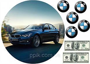 Вафельная картинка автомобиль BMW 2