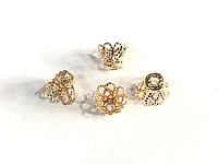 Колпачки 6,5*8 около 95шт цвет золото