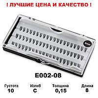 Ресницы пучковые в кейсе 10D, 8 мм, С, 0,15, 60 пучков