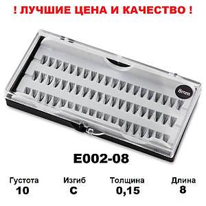 Ресницы пучковые в кейсе 10D, 8 мм, C, 0,15, 60 пучков