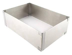 Форма для выпечки раздвижная прямоугольная 10 см (Украина)