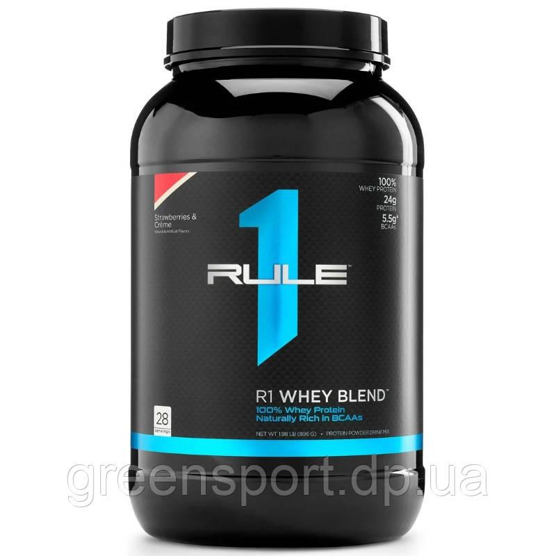 Протеин R1 Whey Blend 896 г Клубника со сливками
