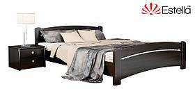 """Двоспальне ліжко """"Венеція"""" з бука (щит, масив)"""