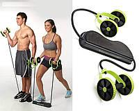 Фитнес колесо Revoflex Xtreme, Универсальный тренажер для пресса и всего тела, рук, ягодиц, Силовой тренажер
