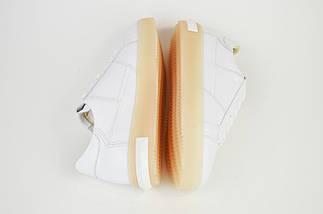 Кроссовки на арома подошве Alpino 628 Белые кожа, фото 2