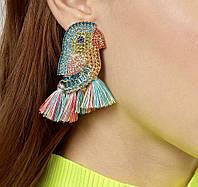 Серьги в камнях бижутерия , красивые серьги , модная бижутерия