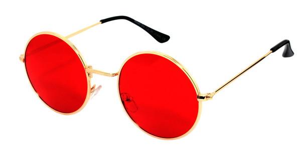 Очки солнцезащитные красные круглые Giovanni Bros