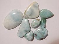 Кабошон из натурального природного камня Ларимар (цена за грамм)