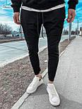 😜Спортивні штани - чоловічі штани-спортивки чорного кольору, фото 2