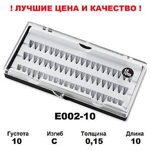 Ресницы пучками в кейсе 10D, 10 мм, C, 0,15, 60 пучков