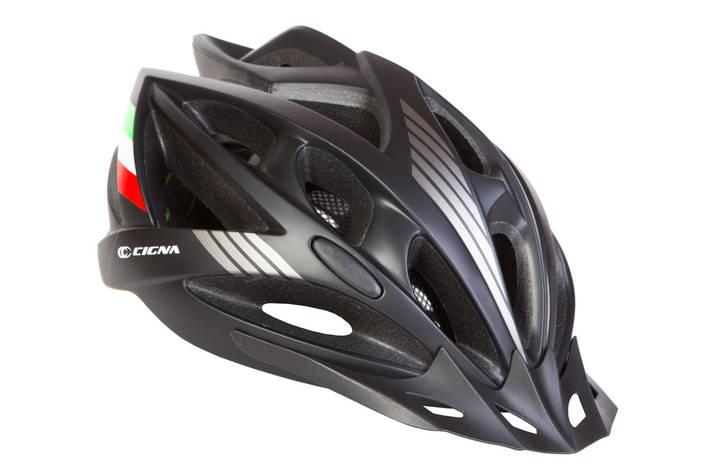 Шлем велосипедный с козырьком СIGNA WT-036 черный (Черный), фото 2
