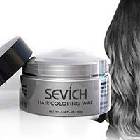 Окрашивающий воск для волос серый- серебристый,седой 120 грамм